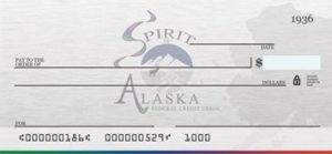 Check With Spirit of Alaska Logo Background