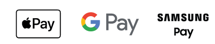 Apple Pay, Google Pay, Samsung Pay Icons